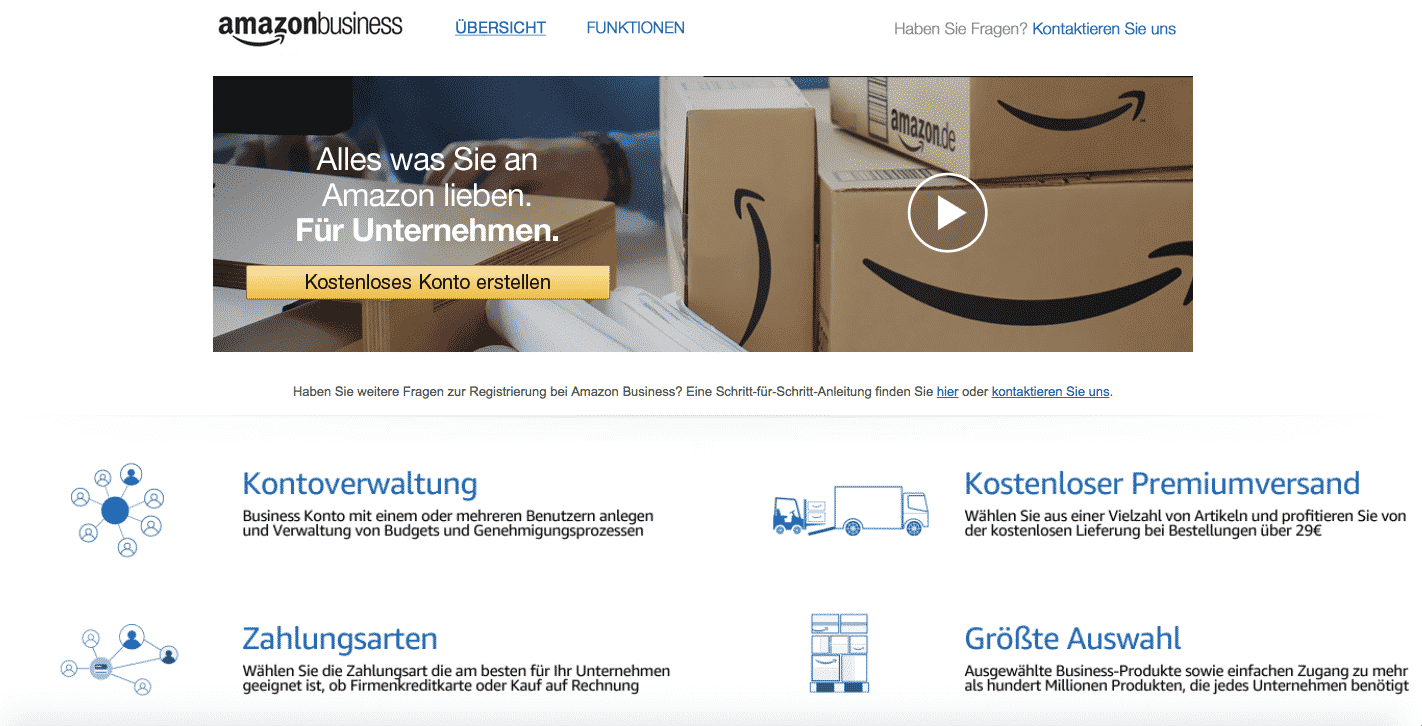Screenshot: Amazon Business