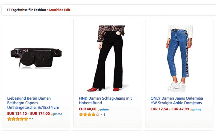 Screenshot: Amazon Fashion Europe I Anuthida
